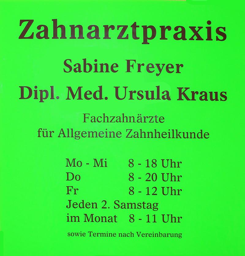 Öffnungszeiten Zahnarztpraxis Freyer & Kraus Altenburg